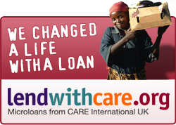 We're changing lives with microloans through Lendwithcare.org